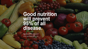 Good nutrition will prevent 95% of all disease. Estimated Nutrition ...