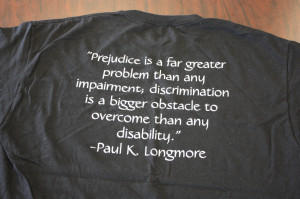 Prejudice is a far greater problem than any impairment; discrimination ...