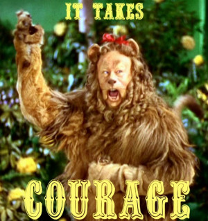 Courage Lion Cowardly lion