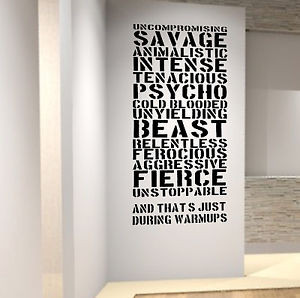 Best-Gym-Warm-Up-Wall-Decal-Quote-Ever-Training-Fitness-Crossfit-UFC ...