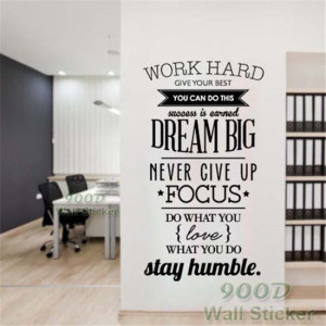 Dream Big Inspiration Quote Wall Stickers, DIY Home Decoration Wall ...