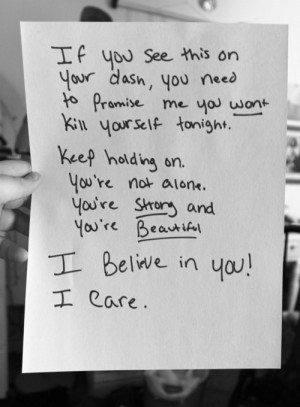... You're amazing, please don't kill yourself. You're so wonderful