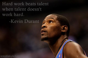 kevin durant quote about talent