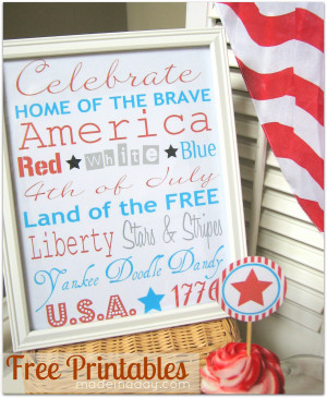 4th of july subway art patriotic quotes