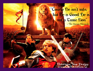 He Is Good Narnia inspirational picture quote and sayings about life ...