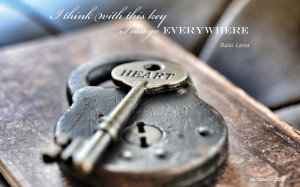 Lock Key Dalai Lama heart mood bokeh lock keys macro quotes statements ...