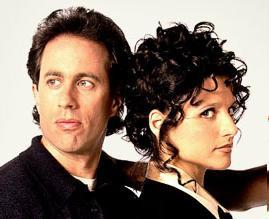 Jerry Seinfeld and Julia Louis-Dreyfus as Elaine Benes