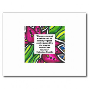 Gandhi Quote About Animals Cards & More