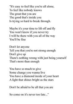Lyrics to you and me together hannah montana