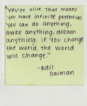 If You Change the World, The World Will Change!