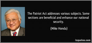Quotes From the Patriot Act