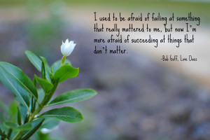 Photo Quote: Fear of Failure