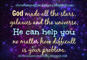 God can help you free christian card image quote
