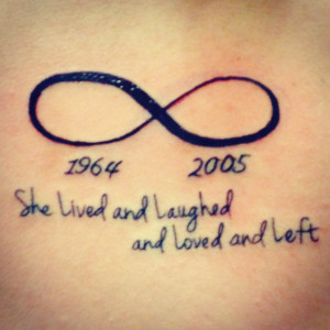 Infinity sign with a quote #tattoo I basically got these tattoo in ...