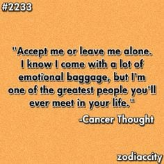 ... towards people all day everyday! Horoscopes, Cancer Zodiac Quotes