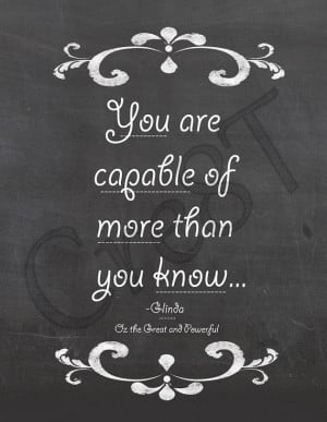 Disney Oz The Great and Powerful Movie Quote Print by Cre8T, $2.00 Hey ...