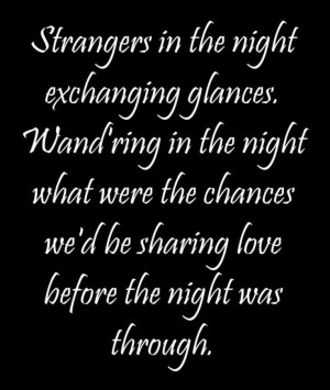 Frank Sinatra - Strangers in the Night - song lyrics, song quotes ...