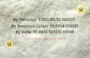 My identity is found in Christ