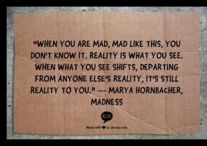 Marya Hornbacher, Madness