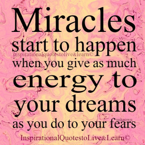 Do you believe Miracles can happen?
