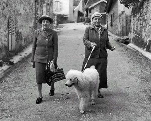 Alice B. Toklas and Gertrude Stein with her poodle Basket in Culoz ...