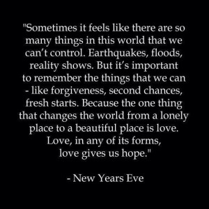 Love Gives Us Hope.....