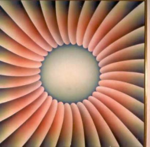 Judy Chicago's 1973 painting 'Through the Flower' is one of a number ...