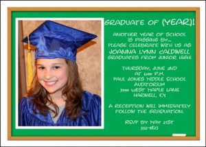 Junior High School Graduation Photo Announcement areBecoming Very ...