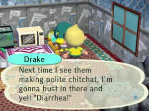 Animal Crossing City Folk Drake Diarrhea