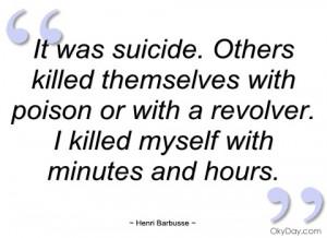 it was suicide henri barbusse