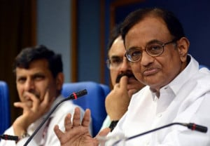 Finance Minister P. Chidambaram along with Arvind Mayaram, Secretary ...