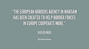 The European Borders Agency in Warsaw has been created to help border ...