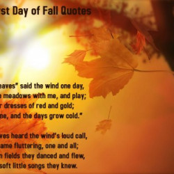 Autumn First Day of Fall Quotes Wallpapers.