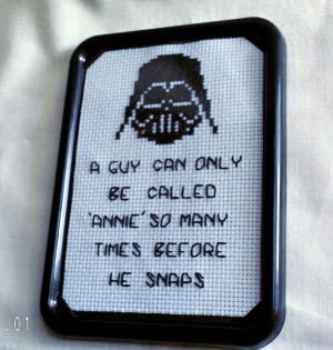 Star Wars Inspired Cross Stitch Quote by agorby00