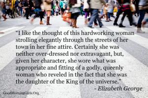 elizabeth george quote
