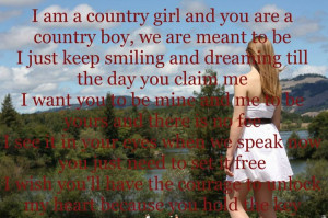 Country girl and country boy | Quotes