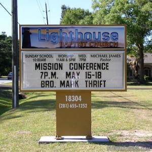 Church Sign for Lighthouse Baptist Church - Photo #2843