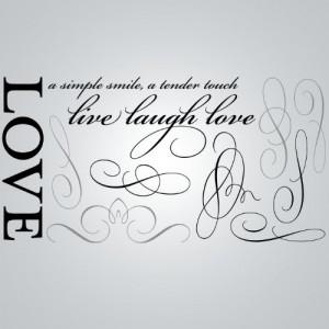 DCWV Wall Art Love Quote, Peel - Stick, Black/Brown