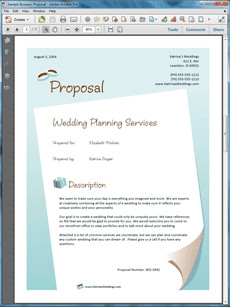 Sample Business Proposals Wedding Planner Services Sample Proposal