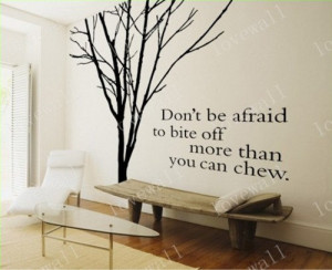 quote tree decal,Vinyl Wall Decal ,winter tree sticker, English quotes ...