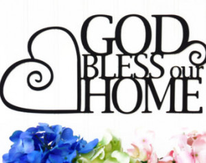 god bless our home metal sign bla ck 13 5x6 5 heart wall quote god