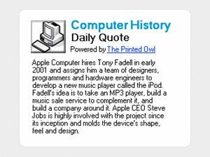 Computer History Daily Quote