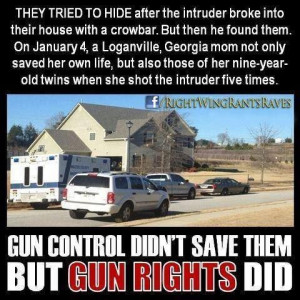 quotes Gun control did not save them, gun RIGHTS did!