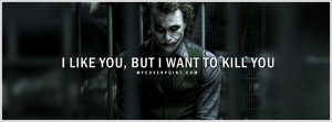 Joker Quote Batman Facebook Cover
