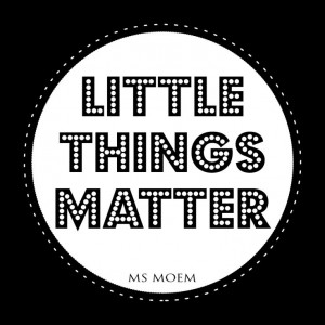 Little Things Matter #quote