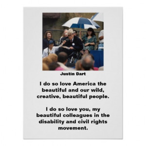 Justin Dart Quote 1 Posters