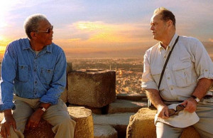 Morgan Freeman (l.) and Jack Nicholson are paired in Rob Reiner's 'The ...
