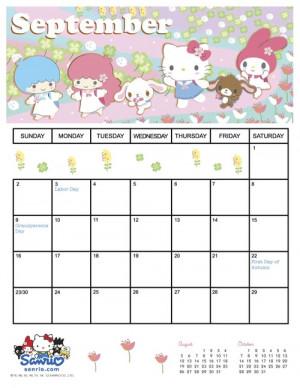 September School Calendar...