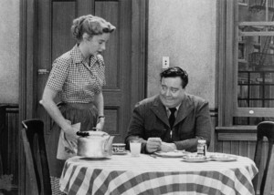 Still of Jackie Gleason and Audrey Meadows in The Honeymooners (1955)
