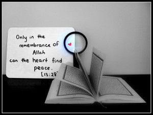Only in the remembrance of Allaah can the heart find peace.